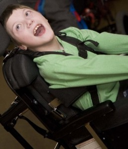 Young male in a wheelchair